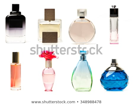 Bloem glas parfum fles hout Stockfoto © REDPIXEL