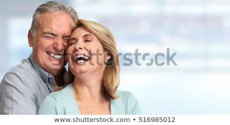 Portrait Of Happy Aged Smiling Couple Сток-фото © kurhan