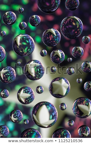 Stok fotoğraf: Glossy Sphere Bubble Pattern In Multiple Color On White