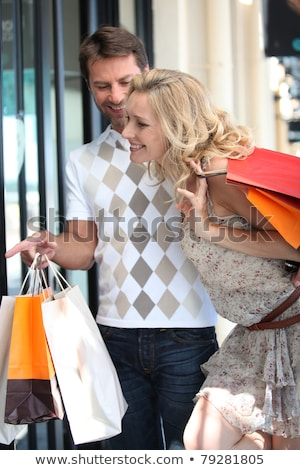 Couple go on a shopping spree Stock photo © photography33