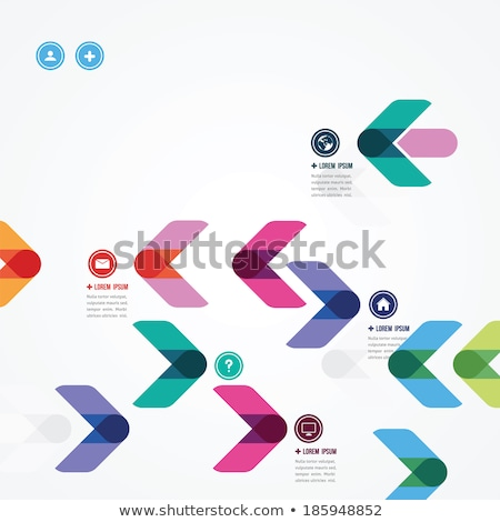 arrow and directional icons in grey color Stock photo © experimental