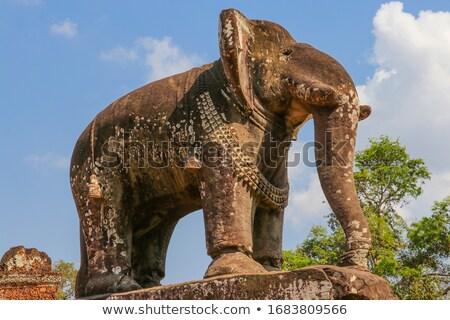 tempel · angkor · Cambodja · profiel · gezicht · steen - stockfoto © alexeys