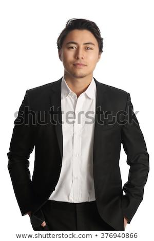 Asia · empresario · los · brazos · cruzados · frente · vista - foto stock © szefei