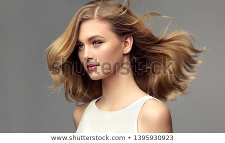 Portret kobieta siwe włosy włosy zimą życia Zdjęcia stock © photography33