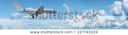 Aterrissagem jato panorâmico céu natureza azul Foto stock © moses