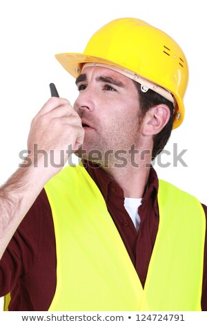 foreman using radio receiver to delegate work stock photo © photography33