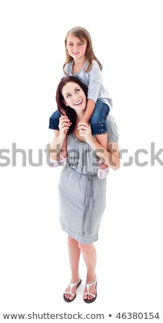 Attentive mother giving her daughter piggyback ride Stock photo © wavebreak_media