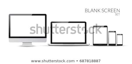 バナー · 画面 · 白 · 3D · レンダリング · 紙 - ストックフォト © fotoscool