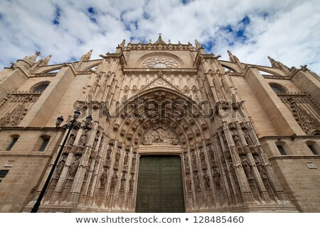 Ajtó feltételezés katedrális spanyol LA mikulás Stock fotó © rognar