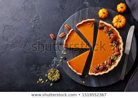 пирог орехи белый продовольствие меда кремом Сток-фото © Masha