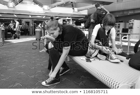 girl searches what to put on Stock photo © ssuaphoto