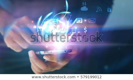 Tablet concept with a 'Entertain' button Stock photo © maxmitzu