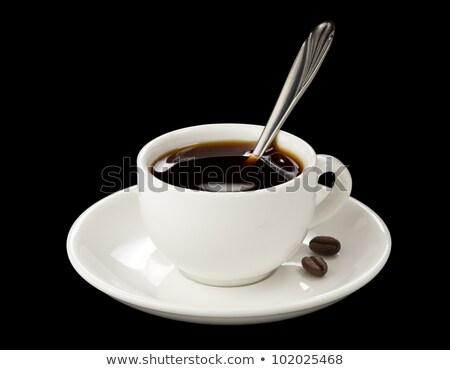 piedi · cucchiaio · chicchi · di · caffè · bianco · alimentare · caffè - foto d'archivio © Rob_Stark