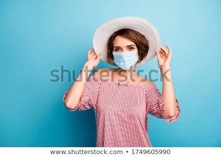 Fille été chapeau portrait Photo stock © gemphoto