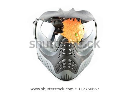 Isolado paintball máscara preto branco engrenagem Foto stock © TeamC