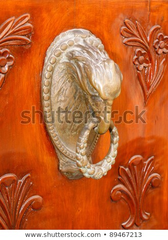 Polish eagle, door knocker. Stock photo © FER737NG