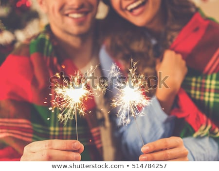 sparkler christmas tree Stock photo © Paha_L
