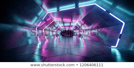 Sechseck Tunnel abstrakten 3d render Computer Hintergrund Stock foto © ixstudio