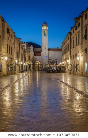 Evening Old Town Square in Dubrovnik. Croatia Stock photo © macsim