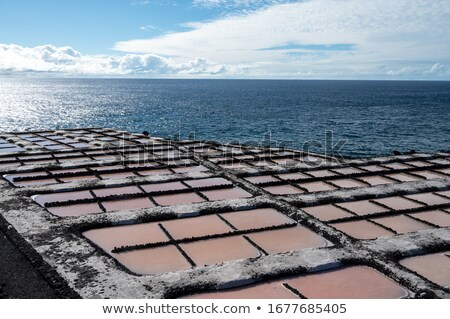 Salt production from dried sea saltwater Stock photo © lunamarina