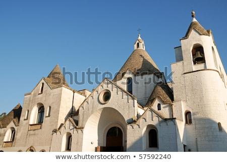 San Antonio trullo church in Alberobello, Italy Stock photo © aladin66