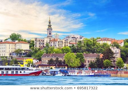 Belgrado Serbia cielo edificio paisaje árboles Foto stock © boggy
