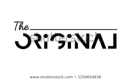 Сток-фото: оригинальный · типографики · написанный · кусок · бумаги · древесины