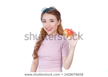 young woman with apple Stock photo © taden