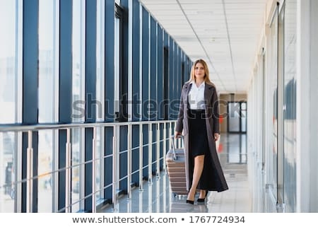 business woman and suitcase Stock photo © imarin