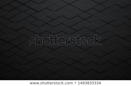 Black Abstract Polygon Background Tile Stock photo © frostyara
