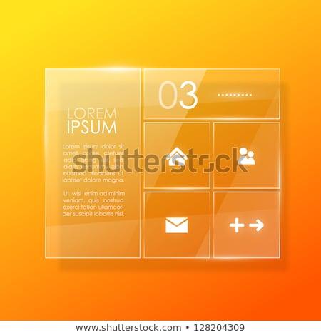 Photo stock: Modèle · de · conception · verre · surface · écran · informations