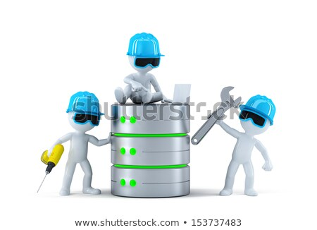 Group of technicians with data base. Technology concept Stock photo © Kirill_M