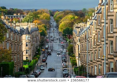 View on historic houses in Edinburgh Stock photo © Hofmeester