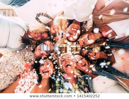 düğün · parti · kadın · çift · kek - stok fotoğraf © actionsports