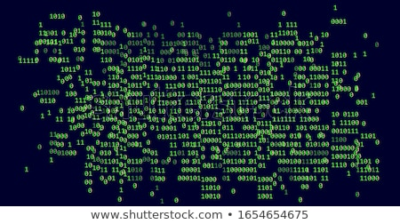 Stock photo: Cyber Attack on Dark Digital Background.