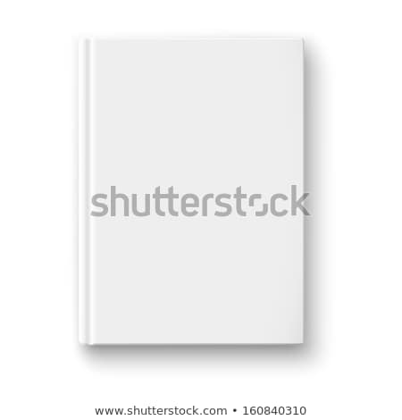 Blank white hardcover book isolated on gray background. Stock photo © tuulijumala