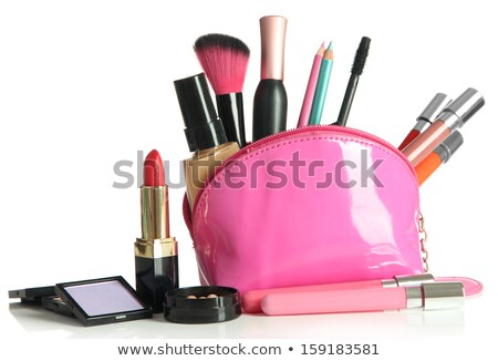 Beautiful woman with a small cosmetics brush Stock photo © dash