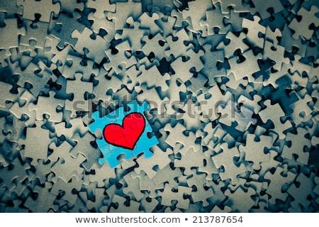 proces · niebieski · puzzle · obraz · świadczonych - zdjęcia stock © tashatuvango