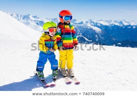 若い女の子 スキー ダウン スロープ 休日 山 ストックフォト © monkey_business
