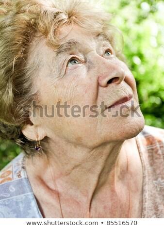 Beautiful thoughtful woman with a penetrating gaze Stock photo © dash