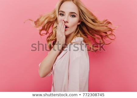 若い女性 · 夢のような · ゴージャス · 立って · 屋外 · 白 - ストックフォト © dash