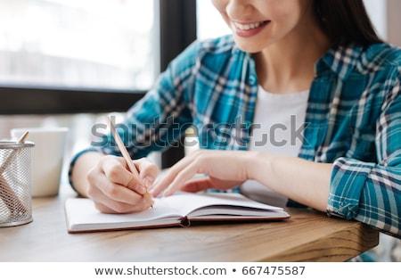 女性 · 書く · ノートブック · 在庫 · 写真 · オフィス - ストックフォト © punsayaporn