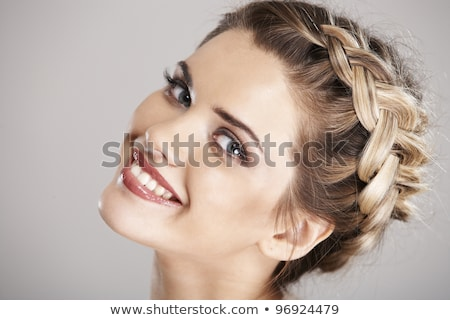 Pretty with braided hair Stock photo © Nobilior