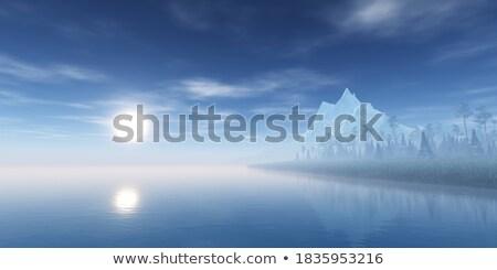 göl · buğu · bulut · odak · ahşap · büro - stok fotoğraf © elwynn