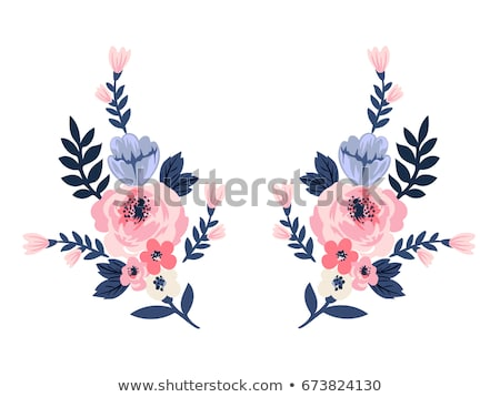 Floral embroidery on a garment Stock photo © juniart