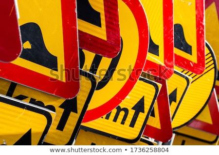 pile of traffic signs stock photo © smileus