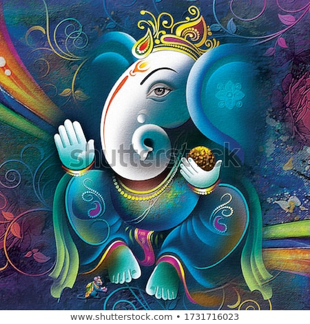 Stock photo: beautiful ganesh illustration