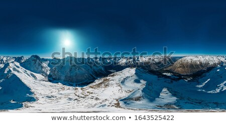 360 degree sierra mountain panorama stock photo © pancaketom