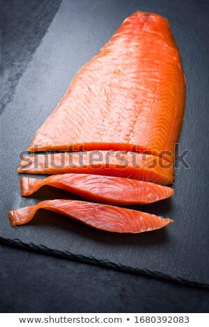 lazac · szeletek · fekete · kaviár · pázsit · étel - stock fotó © elxeneize