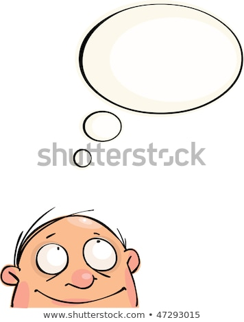 Cartoon chauve homme idée bulle main Photo stock © lineartestpilot